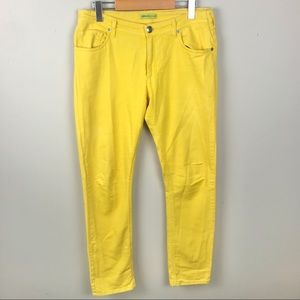 Versace Jeans Yellow Bright Spring Skinny Jeans